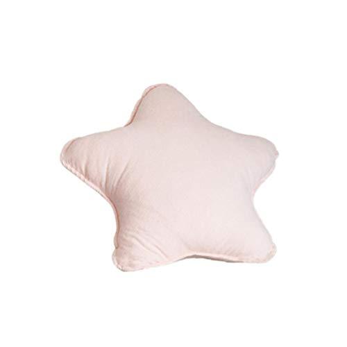 Solido di colore morbido cotone farcito cuscino del divano cuscino di tiro della decorazione della casa per la camera da letto Ufficio Car (Star)