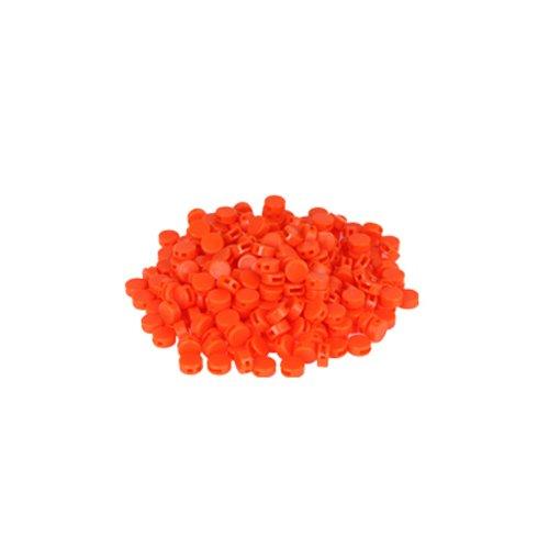 250 St. Kunststoffplomben orange 8mm - Plomben