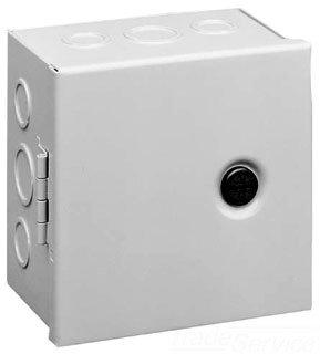 "Hoffman AHE12X8X4 Pull Box, Hinged Cover, Steel, 12"" x 8"" x 4"", Gray"