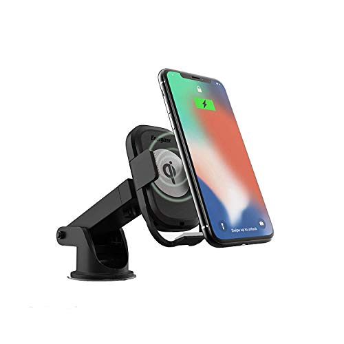 Premier Energizer Ultimate Qi Wireless Car Charger Magnetic Phone Holder Quick Charging Pad Air Vent Dashboard Windshield Mount for Apple iPhone/Android 5W 7.5W 10W