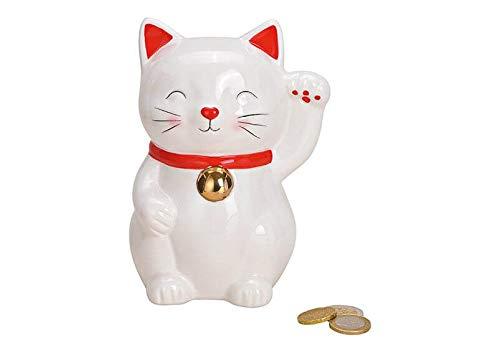 MC Trend Spardose Glückskatze Sparbüchse winkende Katze Glück Schutz Wohlstand Geld Geschenk-Idee