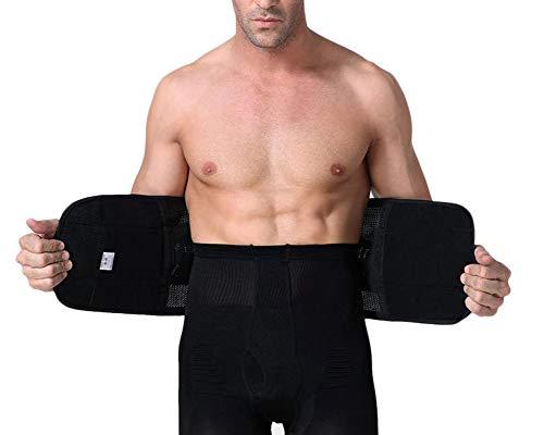 GELing Hombre Faja Reductora Elástica Barriga Adeltazante Body Shaper Corset Negro XL