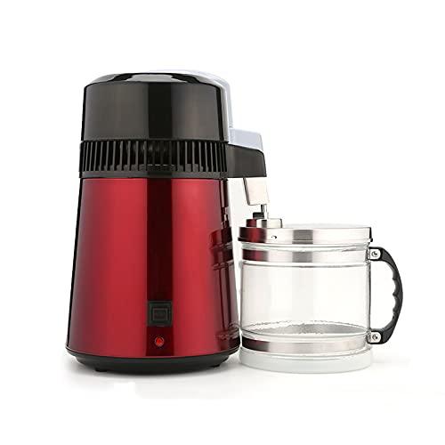 Wgwioo Máquina De Fabricación De Agua Destilada De 4L, Máquina De Destilación De Agua Pura De Acero Inoxidable para Encimera Casera