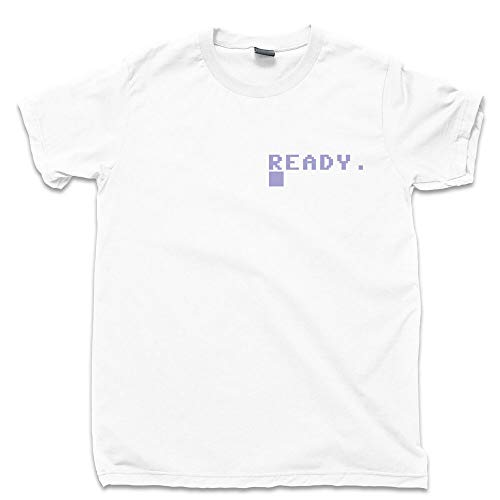 Commodore 64 T Shirt Console Keyboard Ready Computer Programmer Pocket Print tee