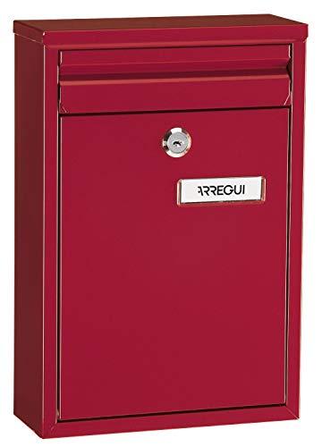 Arregui Zaguán E5756 Buzón Individual de Acero, buzón o recogecartas, tamaño S (DIN A5), rojo