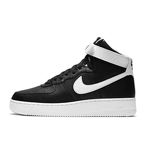 Nike Air Force 1 High '07, Zapatillas de básquetbol Hombre, Black/White, 43 EU