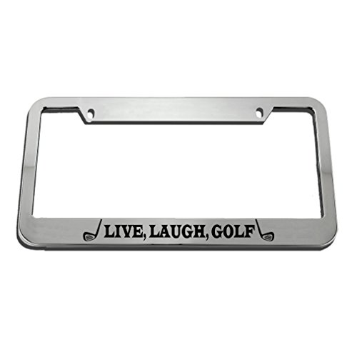 Speedy Pros Live, Laugh, Golf Motivational License Plate Frame Tag Holder