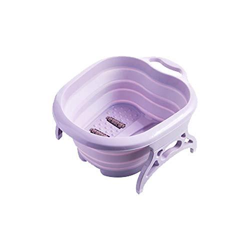 Seasaleshop plaatsbesparend voetenbad voetverzorging kuip opvouwbaar, oprolbaar draagbaar voetenbad schuim bak thuis reistafel wastafel 19,69 16,14 7,87 inch.