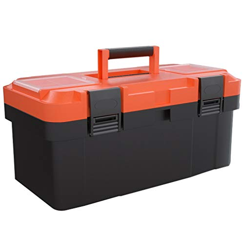 Caja de herramientas Caja de herramientas de hardware for almacenamiento de herramientas o piezas Caja de almacenamiento de herramientas de doble capa (tamaño 45 cm × 23 cm × 20 cm) Caja de herramient