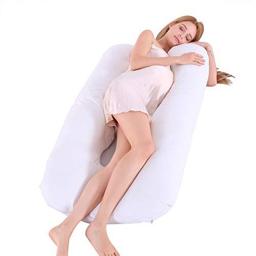 GoMaihe Stillkissen Seitenschläferkissen mit Bezug, 150×80cm Schwangerschaftskissen zum Schlafen, U Form Seitenschläfer Kissen Pregnancy Pillow Schlafkissen, Body Pillow mit Waschbarem Bezug
