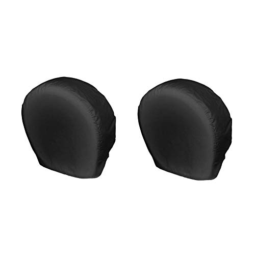 Explore Land Tire Covers 2 Pack - Tough Tire Wheel Protector For Truck, SUV, Trailer, Camper, RV - Universal Fits Tire Diameters 26-28.75 inches, Black