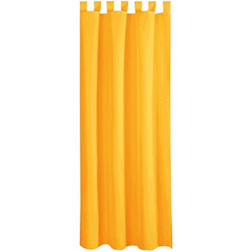 Bestlivings Gardine Vorhang Blickdicht modern mit Schlaufen Schlaufenschal Mikrosatin matt, in vielen Größen, Auswahl HELL-ORANGE in der Größe: B-140cm x L-245cm