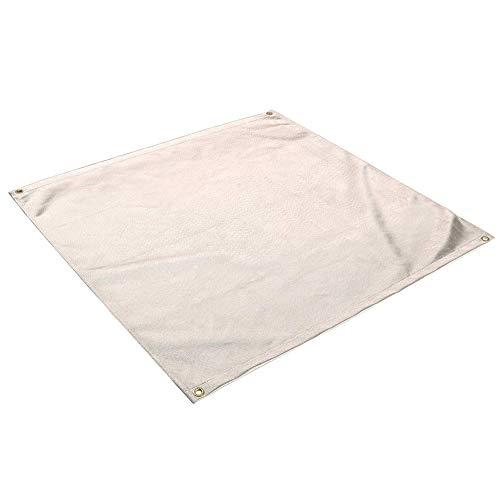 WANGQI Brandblusdeken, vuurvast tapijt, outdoor camping grilldoek vlamvertragende doek fornuis mat grillmat BBQ picknick isolatie vlamvertragende deken (50 x 50 cm)