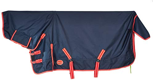 Cwell Equine Unisex's turnout outdoor tapijt, marine, klein
