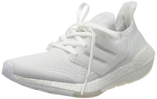 adidas Ultraboost 21 W, Scarpe da Corsa Donna, Ftwr White/Ftwr White/Grey Three, 38 2/3 EU