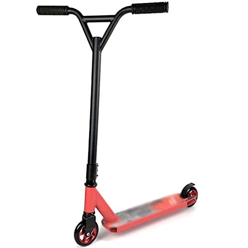 Patinete Fun Scooter Patinete Reforzado De Edición Avanzada, Scooters Deportivos con Asa Tipo Y, Trick Scooters Profesionales De Carreras (Color : Red, Size : 67 * 49 * 85cm)
