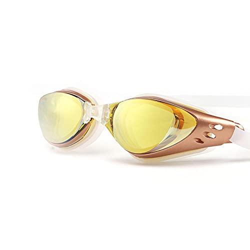 Gafas de natación Gafas de natación impermeables y antivaho Gafas de natación Gafas de silicona Dioptría para adultos y niños amarillo
