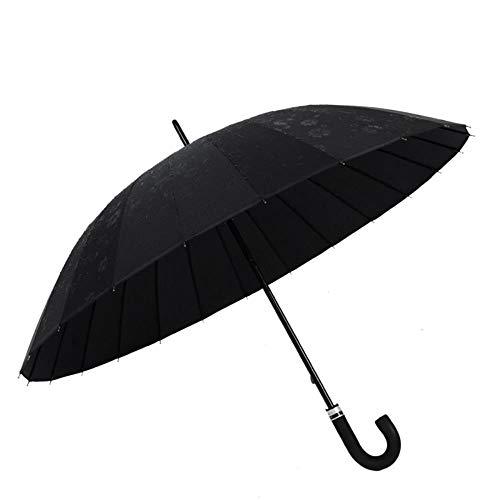Paraguas llano del agua de la floración del hueso 24 paraguas de la sombra recta paraguas al aire libre