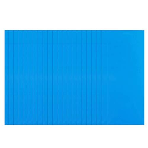 Snlaevx Rectangle Self-Adhesive PVC Repair Patches Stickers, 10-50pcs Vinyl Pool Liner Patch Boat Repair Vinyl Rubber for Inflatable Boat Raft Kayak Supplies (30PCS)