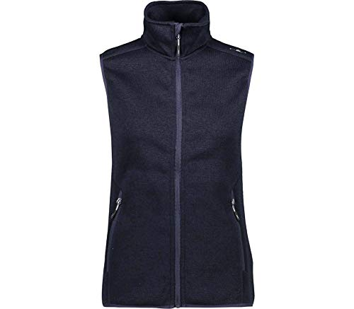CMP – F.LLI Campagnolo Damen Knit Tech Strickfleeceweste Fleeceweste, B.Blue-Grey, D46