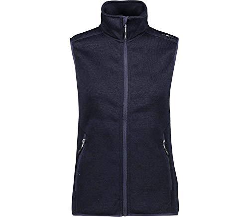 CMP – F.LLI Campagnolo Damen Knit Tech Strickfleeceweste Fleeceweste, B.Blue-Grey, D44