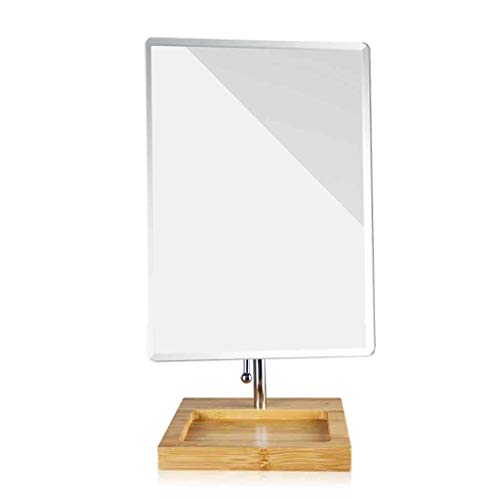 WWEIWU Propre et lumineux Miroir de bureau portable miroir pliant miroir mural de princesse miroir hd chambre miroir grande rotation multi-angle haute définition