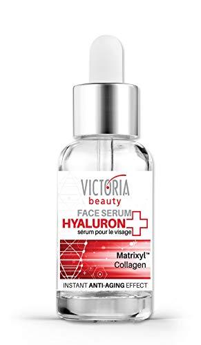 Victoria Beauty - Hyaluron Serum hochkonzentriert mit Kollagen und Niacinamide, Anti Aging Gesichtsserum mit Hyaluronsäure und Matrixyl gegen Falten (1 x 20 ml)