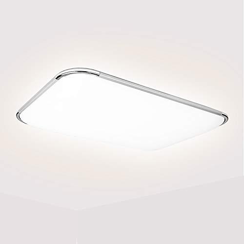 Hengda 48W LED Deckenleuchte, Kaltweiß Deckenlampe 4320LM, Schutzart IP44, Badezimmerlampe Bürodeckenleuchte 6500K, Ersatz 200W Glühlampe