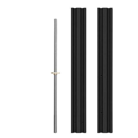 Creality 3D Original Ender 3 Z-Achse Upgrade 2040 Profile Kit mit zwei 50CM Aluminiumprofilen und 10CM Leitspindeln Druckraumerweiterung für Ender 3/Ender 3 Pro/Ender 3 V2