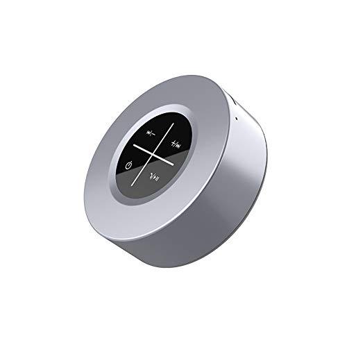 Tocco Del Metallo Bluetooth Speaker con Built-In di Micphone di Sostegno FM Della Carta di TF Audio HD per La Casa Feste Nero
