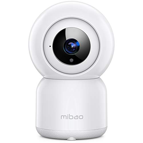 mibao Baby Monitor, FHD 1080P Home Security Camera, WiFi Cameras(Only 2.4G WiFi), Surveillance Cameras, with Night Vision, Motion Detection, 2-Way Audio, Compatible with Alexa