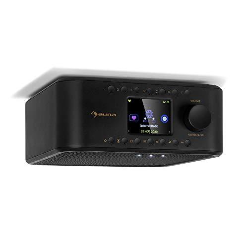 auna Sound Maître - Küchenradio, Internet/DAB+/FM Unterbauradio, Bluetooth-Funktion, TFT-Farbdisplay, Stereo-Lautsprecher, 2 x 1 Watt RMS, AUX-Eingang, LED-Licht, Küchentimer, schwarz