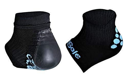 KidSole RX Gel Sports Sock for Kids with Heel Sensitivity from Severs Disease, Plantar Fasciitis (Kid's 2-7, Black)
