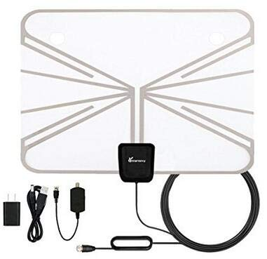 SOONHUA Indoor TV Antenna, 16.5FT/5M USB 5V 50 Mile Range Indoor TV Antenna + Amplifier Signal Booster Best Reception Set