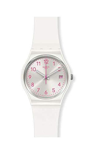 Swatch Damen Analog Quarz Uhr mit Silicone Armband GW411