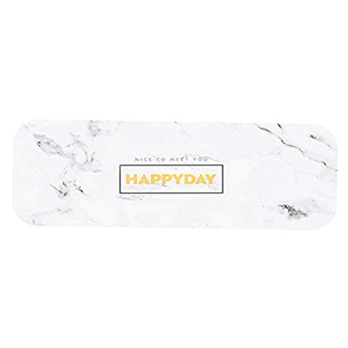 QinKingstore 長方形の珪藻泥石鹸パッド浴室吸水クイックドライパッド歯ブラシ歯コースターホームアンチホットティーコースター-多色