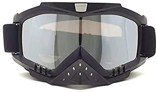 HCMAX Motocicleta Gafas de Protección con Máscara Facial Desmontable Estilo Harley Casco Equitación Gafas de Sol Regalo de San Valentín ⭐