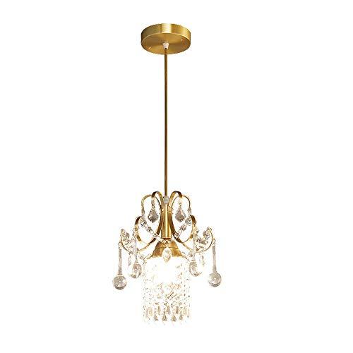 Yangmanini Araña de cristal, Araña Comedor, Pasillo Pasillo Araña, Pequeño Latón de la lámpara por la decoración de la sala de estar (23 * 30 cm)