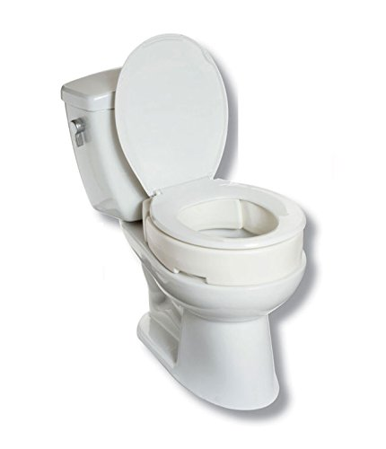 Maddak SP Ableware Hinged Elevated Toilet Seat, Standard