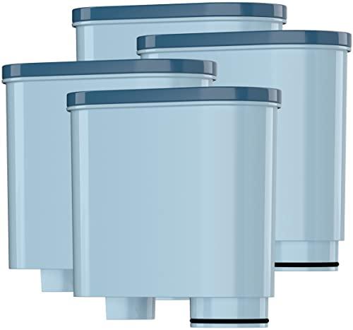 Wessper AquaClear WES040 zestaw 4 filtrów do wody Saeco i Philips AquaClean CA6903/10 CA6903/22 CA6903, filtr osadu kamienia, 4 sztuki