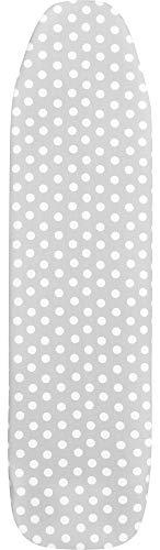 Ladeheid Bügelbrettbezug 100% Baumwolle (Grau/Punkten, 148 x 52 cm)