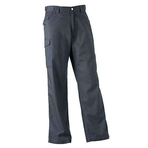 Russell Workwear Polycotton Twill Hose für Männer, Standard Beinlänge (W48 x Regulär) (Grau)