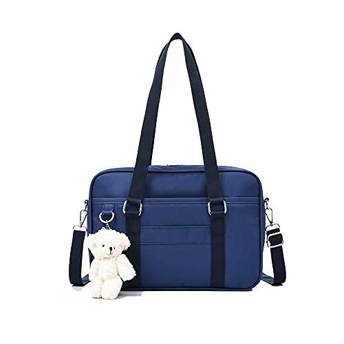 GAR Japanische Schultasche Mit Süßem Bären-Anhänger, Uniform Handtasche Anime Cosplay Tasche, Jk Uniform Umhängetasche Umhängetasche