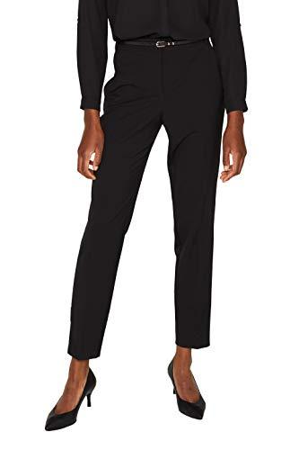 ESPRIT Collection Damen 999Eo1B801 Hose, Schwarz (Black 001), W(Herstellergröße: 38)