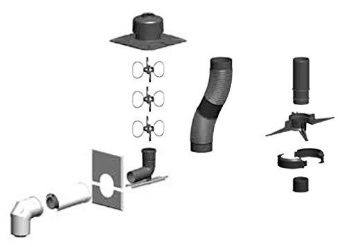 ATEC Komplettpaket Schacht flexibel 0570, DN60/100-DN60 bis 14m *RLU*