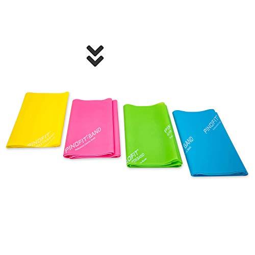 PINOFIT Fitnessbänder - Widerstandsbänder einzeln oder im Set - Stretch Band - Gymnastikband 2m in Profiqualität - Verschiedene Stärken - aus Naturlatex (pink (mittel))