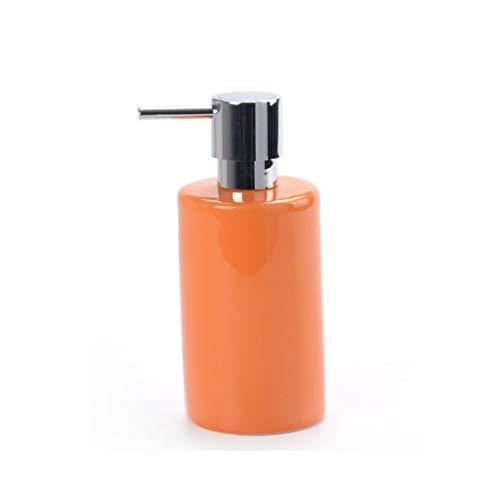 Dispensador de jabón Dispensador de jabón de cerámica Champú desinfectante for manos Gel de ducha Botella dividida Dispensador de jabón Dispensador de la bomba de jabón de baño ( Color : Orange )