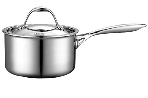 Cooks Standard Lid 1.5-Quart Multi-Ply Clad Stainless Steel Saucepan, 1-1/2-Quart, Silver
