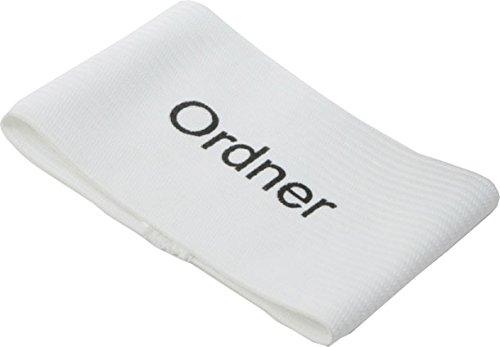 Cawila Armbinde Ordner 10-er Pack, Weiß, One Size
