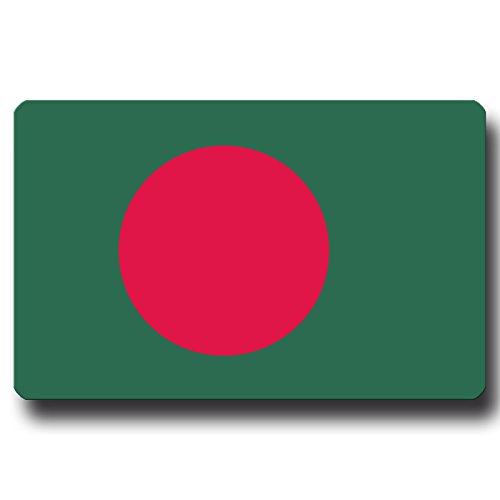 Kühlschrankmagnet Flagge Bangladesch - 85x55 mm - Metall Magnet mit Motiv Länderflagge